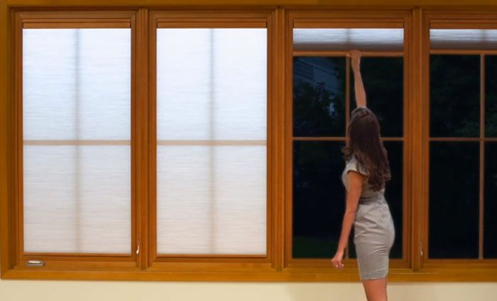 marvin shades integrate seamlessly with doors and windows without protruding into living space or interfering with