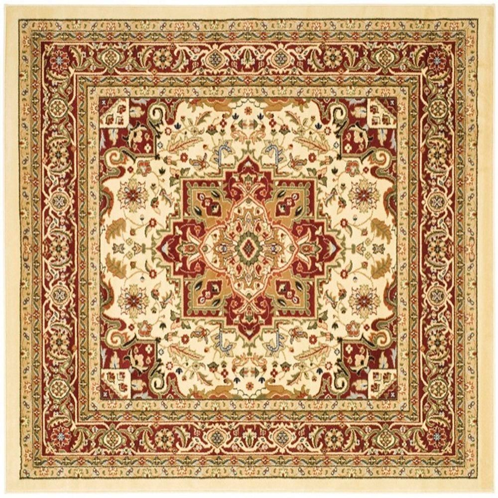 Safavieh Lyndhurst Ivory Red 10 Ft X 10 Ft Square Area Rug Lnh330a 10sq With Images Oriental Area Rugs Square Area Rugs Oriental Style Rugs