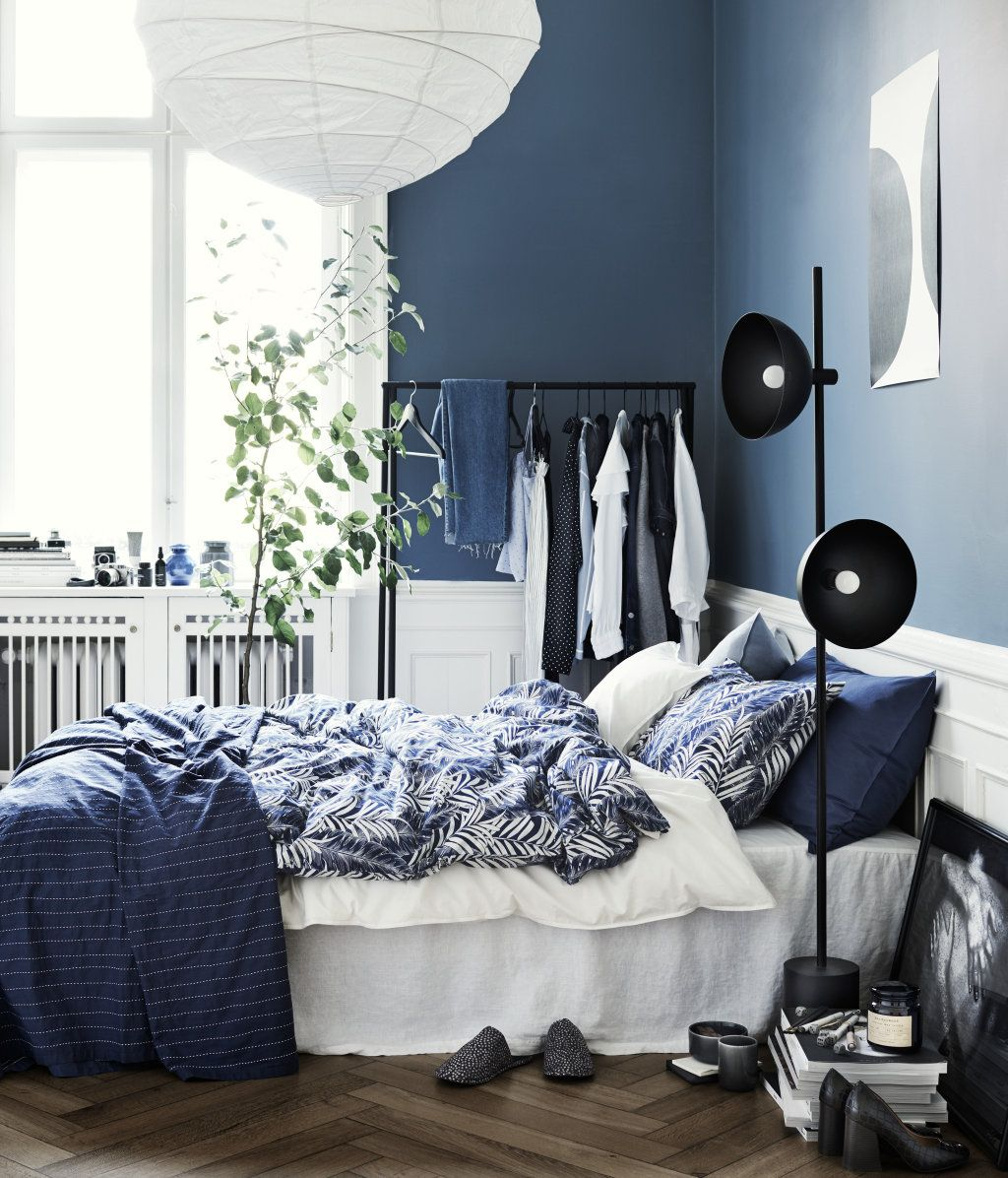 kopfkissenbezug dunkelblau home h m de decoration pinterest schlafzimmer. Black Bedroom Furniture Sets. Home Design Ideas