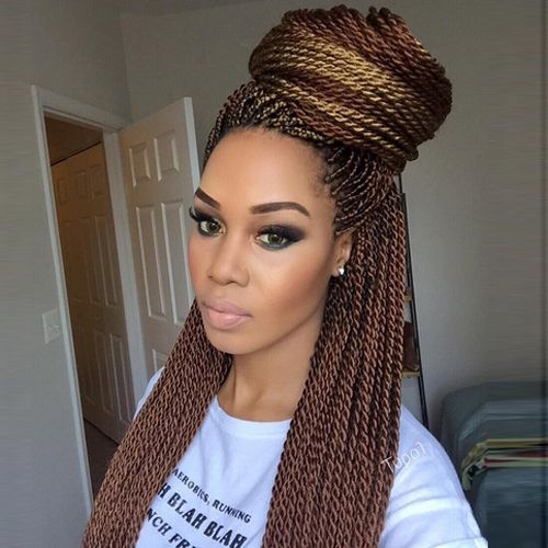 Senegalese Twists Flat Twists Hairstyles Pinterest