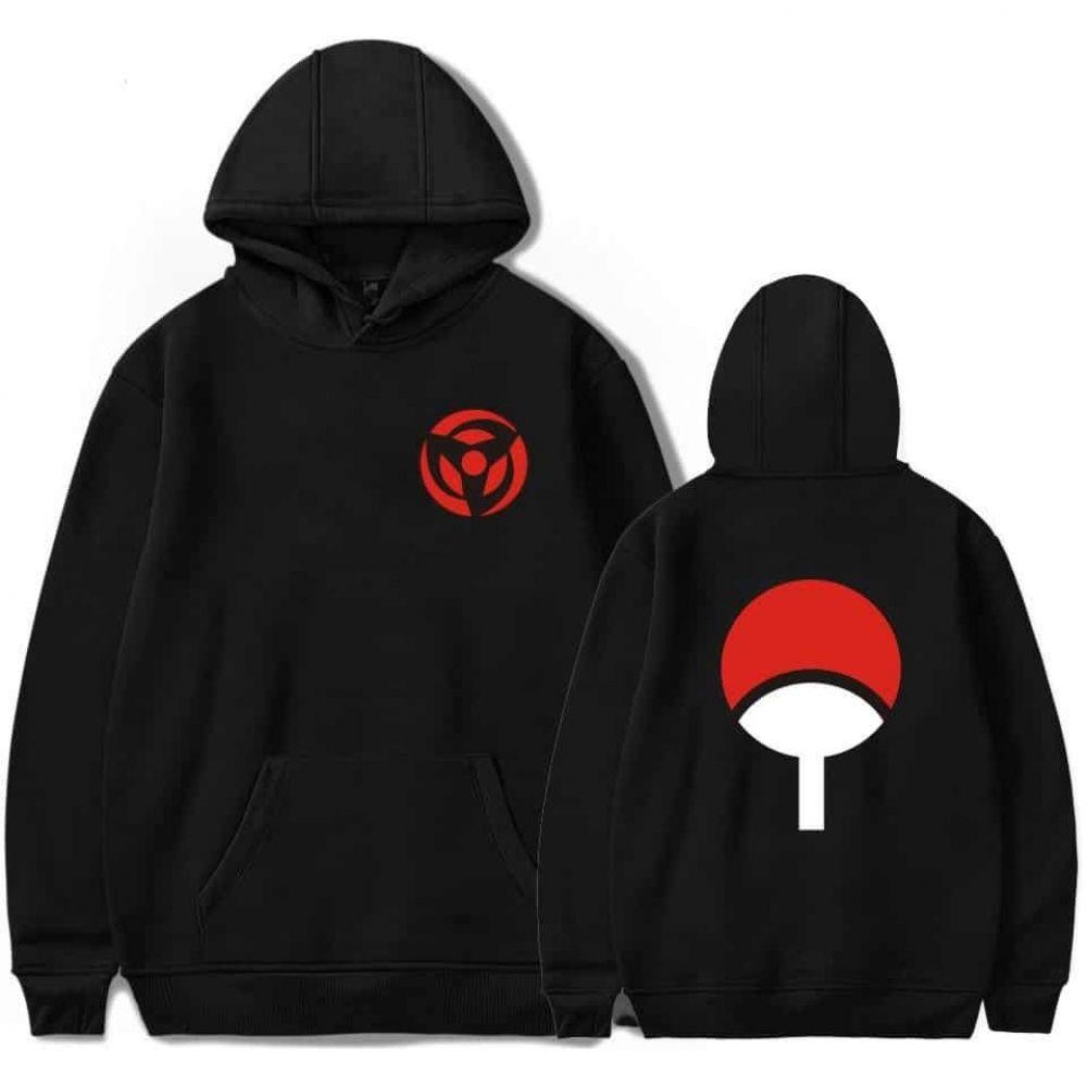 Naruto0 Akatsuki Uchiha Itachi Sasuke Pullover Hoodie Jumper Hooded Sweatshirt
