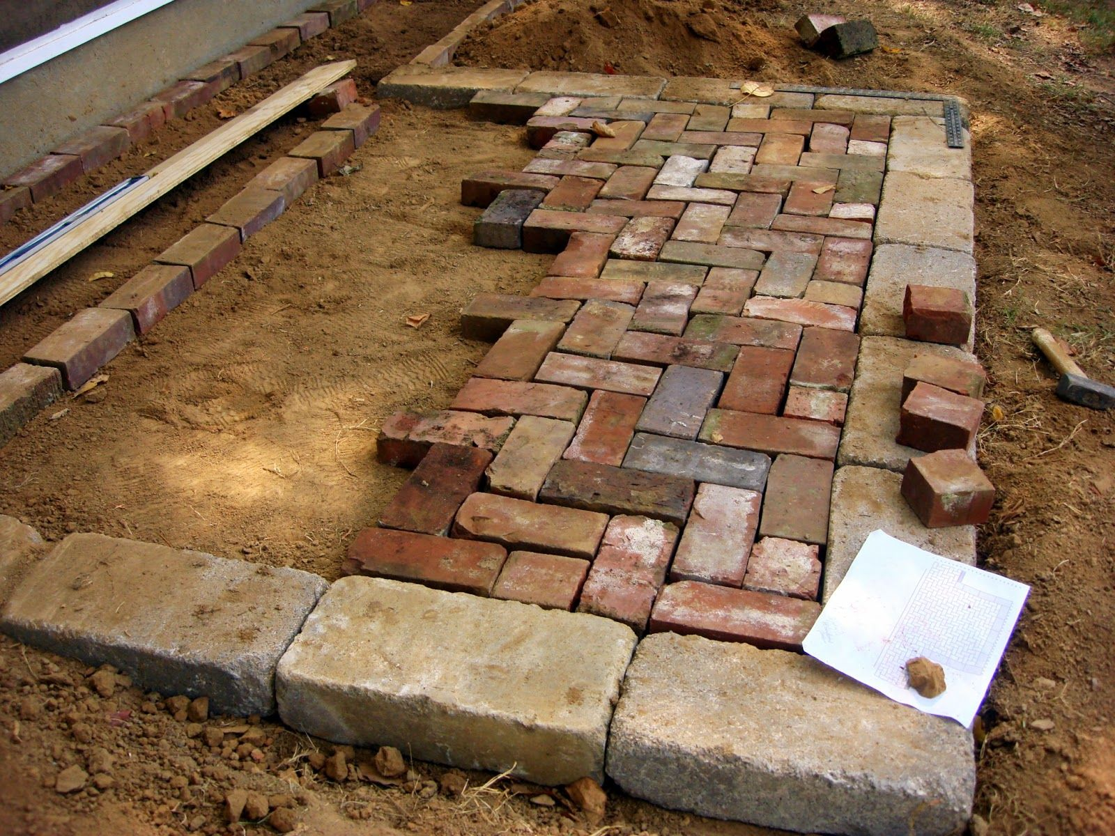 Herringbone Brick Patio Google Search Gardening