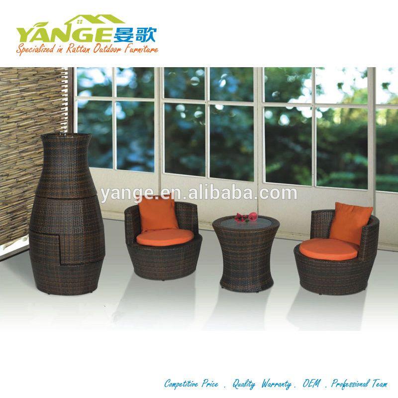 Rattan Wicker Garden Set Stacking Vases Shape Outdoor Furniture ...