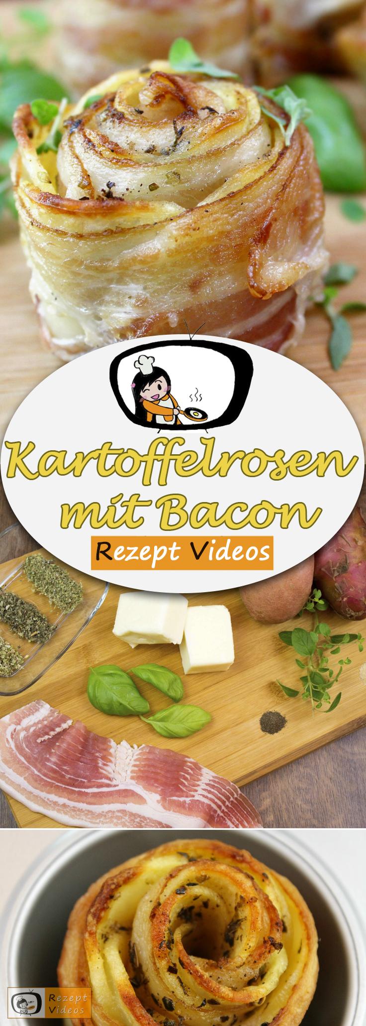 Kartoffelrosen mit Bacon Rezept mit Video - schnelle Rezepte - -