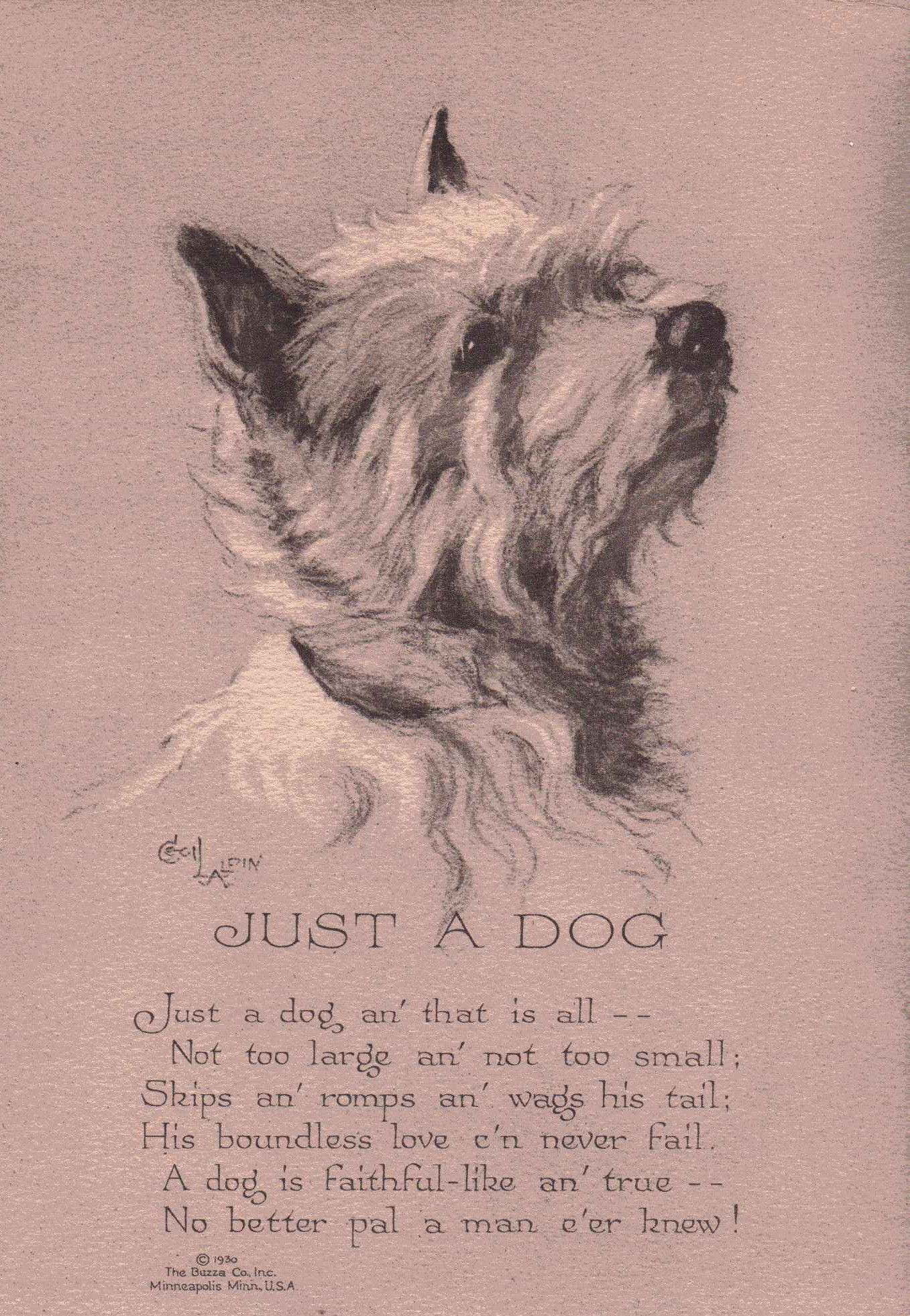Just a dog poem from the 1930's | My pets and other favorite ...