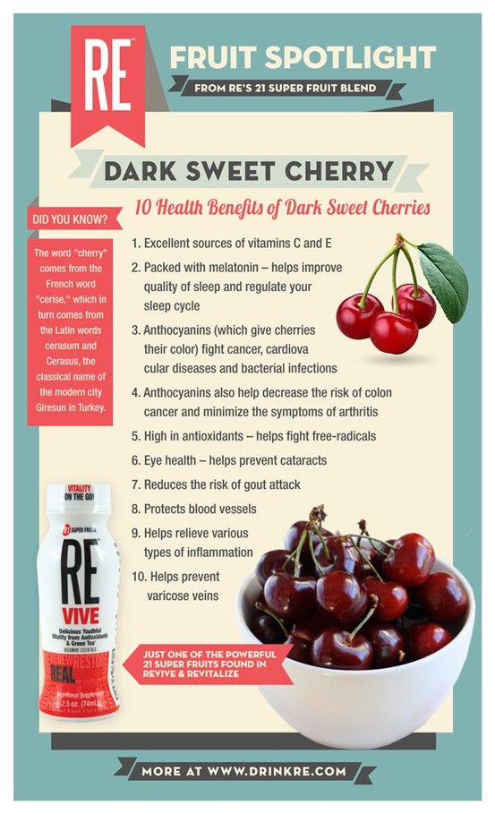 From vitamins to antioxidants, our dark #cherries are as rich in health benefits as they are in #crisp, passionate flavour.