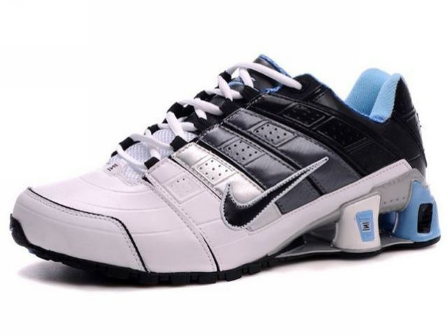 competitive price da0eb 2025e Chaussures Nike Shox NZ Blanc  Noir  Bleu  nike 12054  - €49.99   Nike  Chaussure Pas Cher,Nike Blazer and Timerland www.facebook.com .