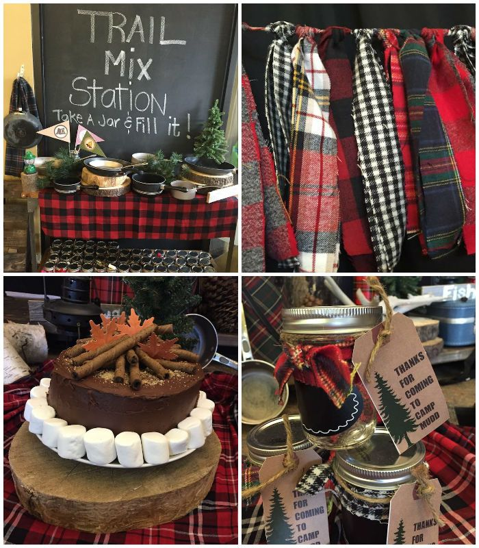 Plaid Rustic Camping Birthday Party