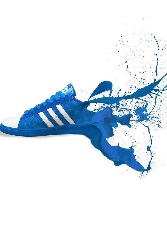Adidas Blue Shoes Sneakers Logo Art #iPhone #4s #wallpaper