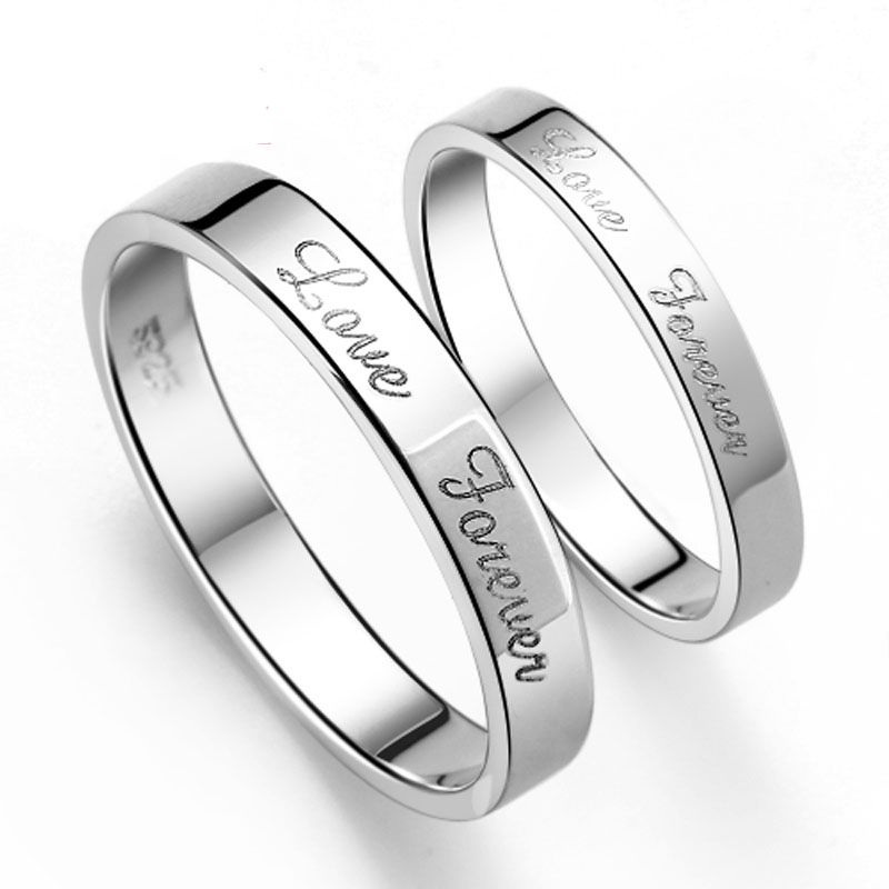 Sterling Silver Matching Wedding Bands Wedding And Bridal Inspiration Silver Wedding Bands Couple Wedding Rings Promise Rings For Couples