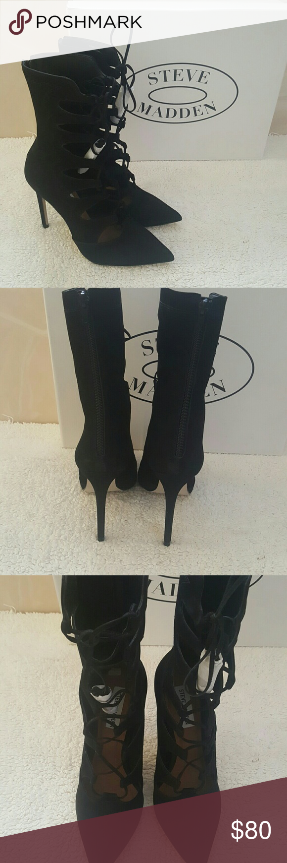 496b9727a8e Sale....Steve Madden Sz 8 Leather Piper Bootie Listed for $80 Nubuck ...