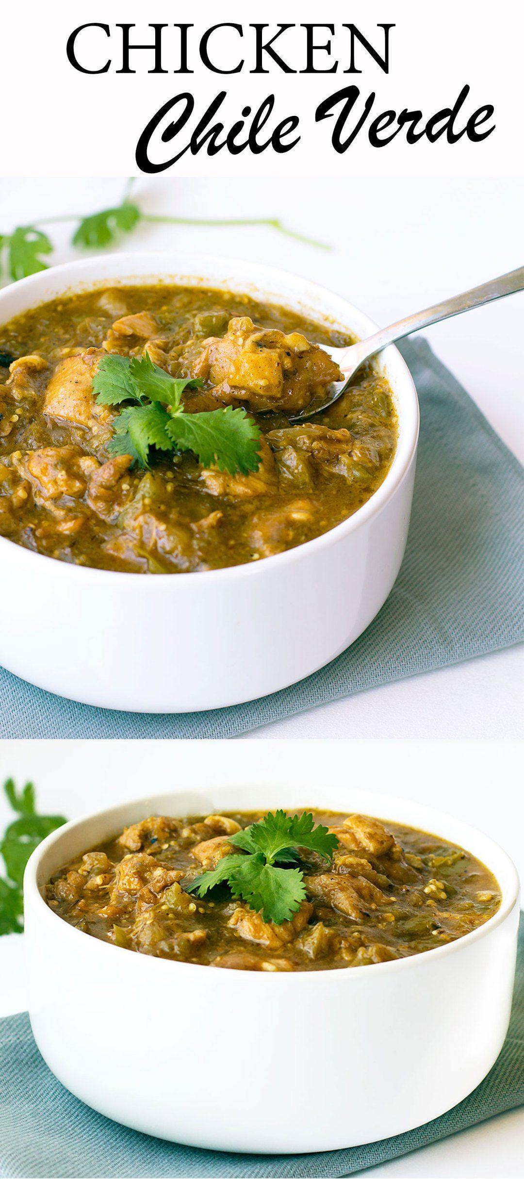 Chicken Chile Verde | Soups & Stews | Pinterest | Cocina saludable ...