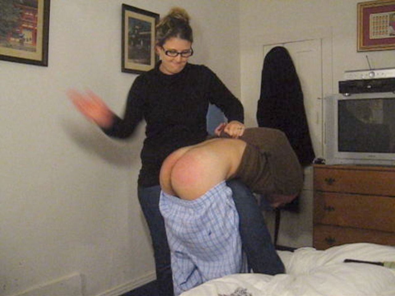 Husband spanking disobedient wife videos, momss fuck videos