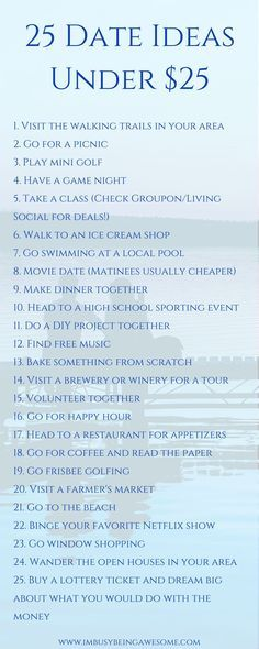 Date ideas for summer