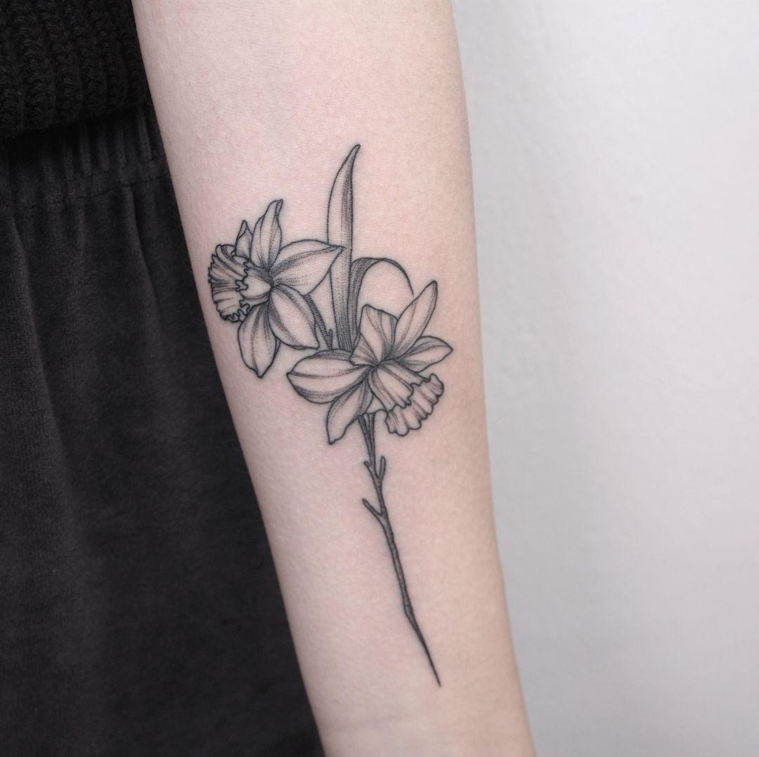 Nina Tattooer Tattoos Daffodil Tattoo Daffodil Flower Tattoos