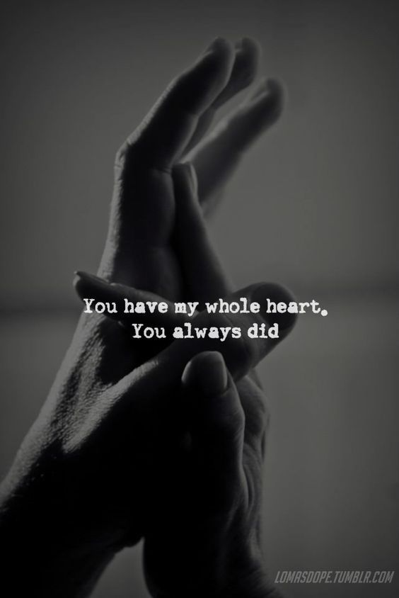 You Have My Whole Heart Love Quotes Couples Romantic Relationship