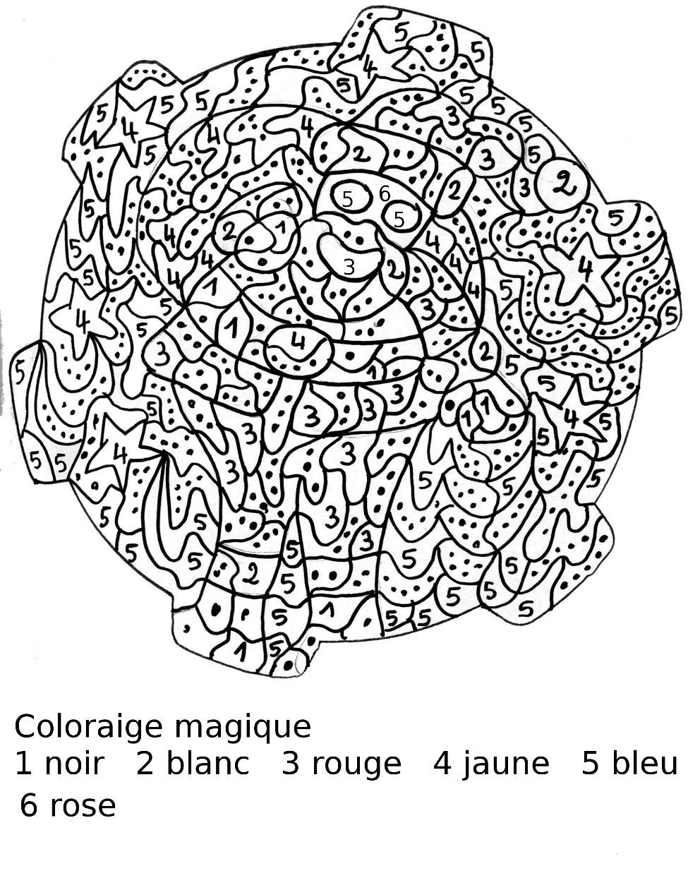 Coloriage magique multiplication n 2 mandala pour for Multiplication pour enfant
