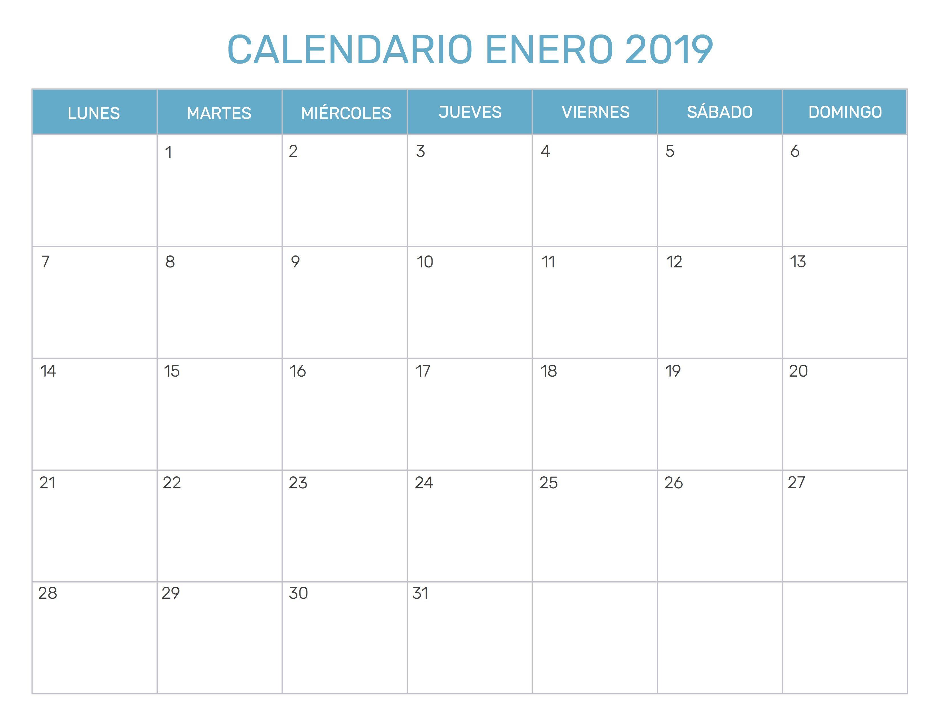 Calendario Con Todos Los Meses Del Año 2019 Para Planificar Tus Actividades Disponible Para Descargar Calendario Enero Calendario De Octubre Calendario Julio