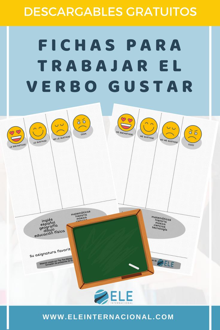 Cartas y fichas para trabajar las asignaturas del colegio y el verbo ...