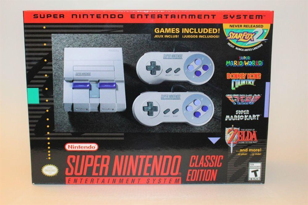 Snes Classic Mini Edition Super Nintendo Entertainment System