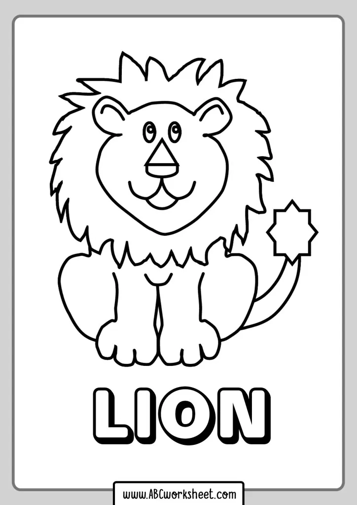 33++ L is for lion coloring page free download