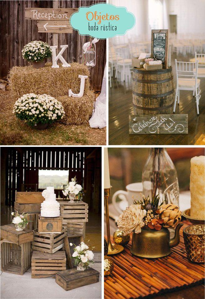 Guia para tu boda r stica novias pinterest ideas for Decoracion rustica para bodas
