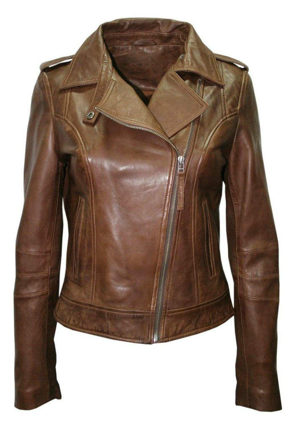 Womens Leather Jacket Bomber Motorcycle Biker Real Lambskin Leather Jacket For Womens Brow Leather Jackets Women Stylish Leather Jacket Lambskin Leather Jacket [ 1515 x 1009 Pixel ]