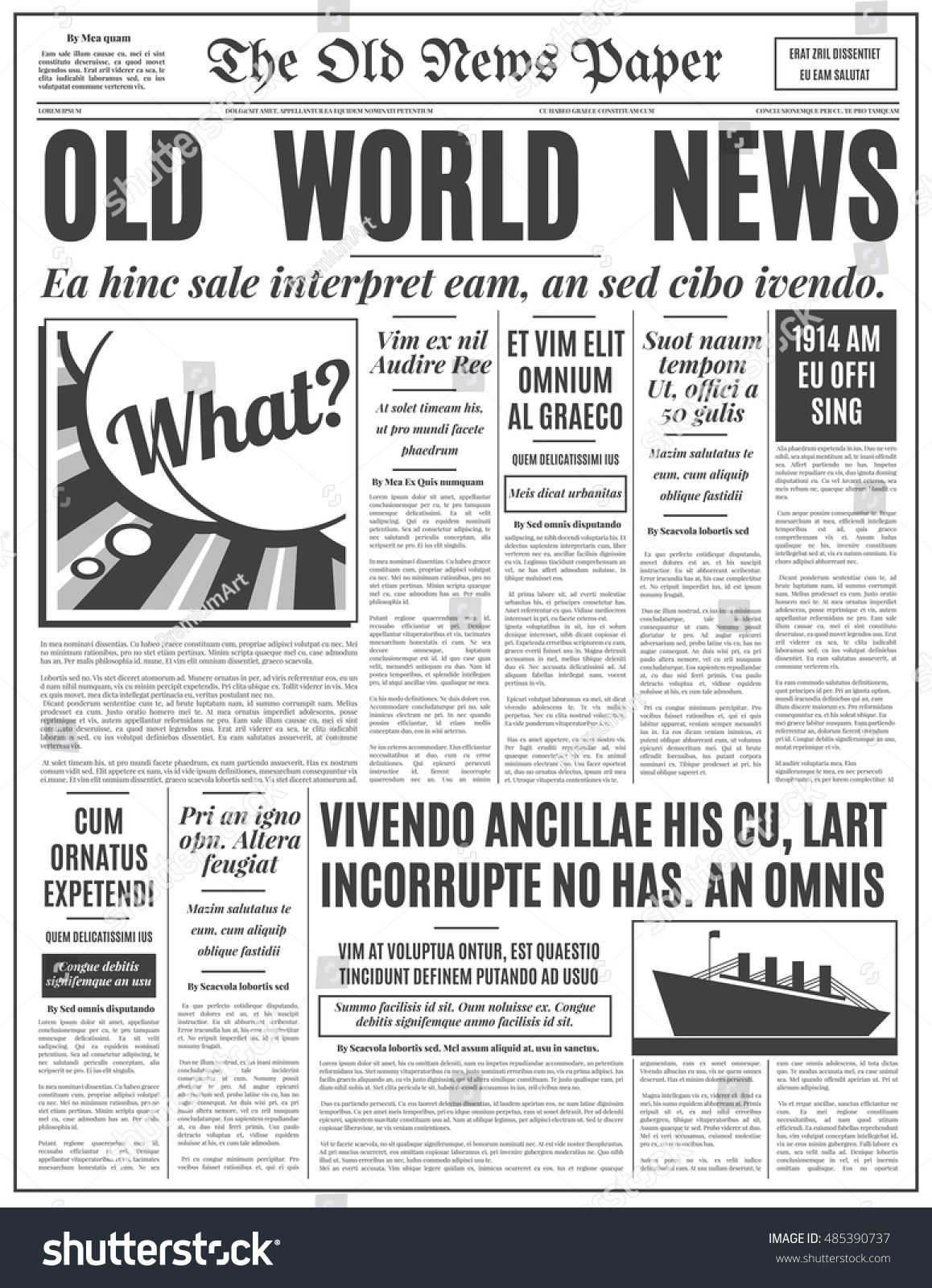 1920s newspaper template