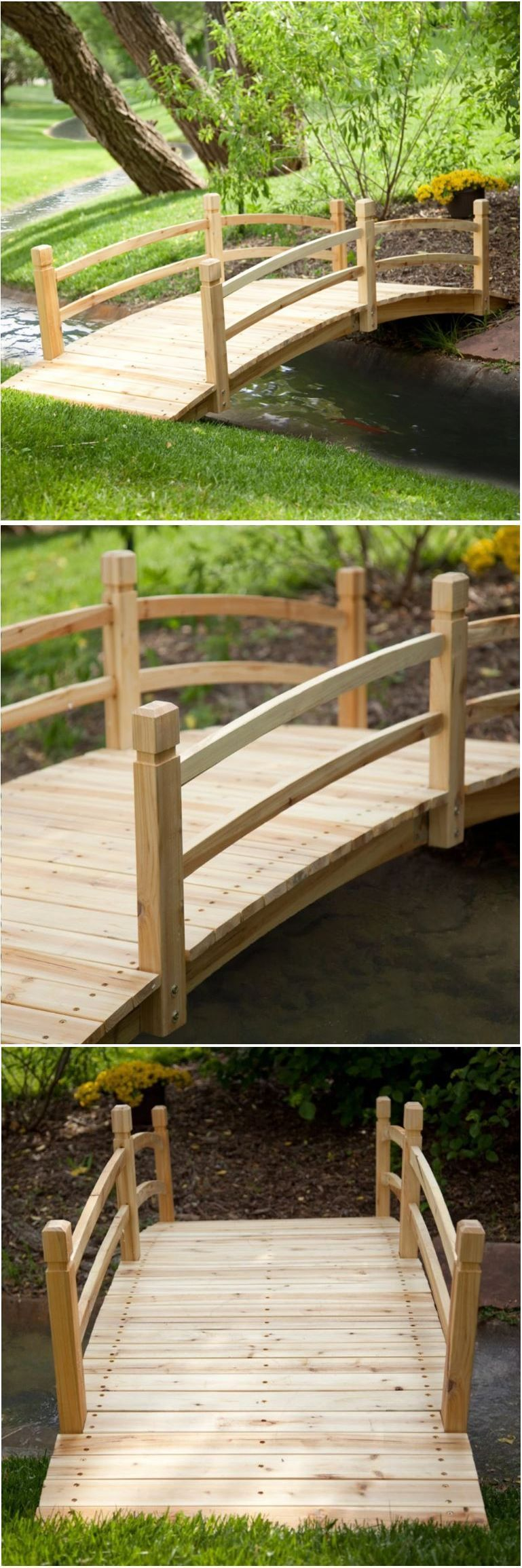 Garden bridge wooden ft fir outdoor yard decoration free standing
