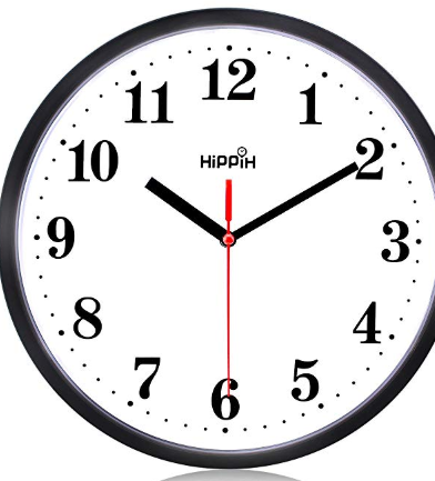 Silent Non Ticking Quartz Wall Clock By Hippih Battery Operated 10 Inch Round Black Wall Clock Wall Clock Silent Wall Clock