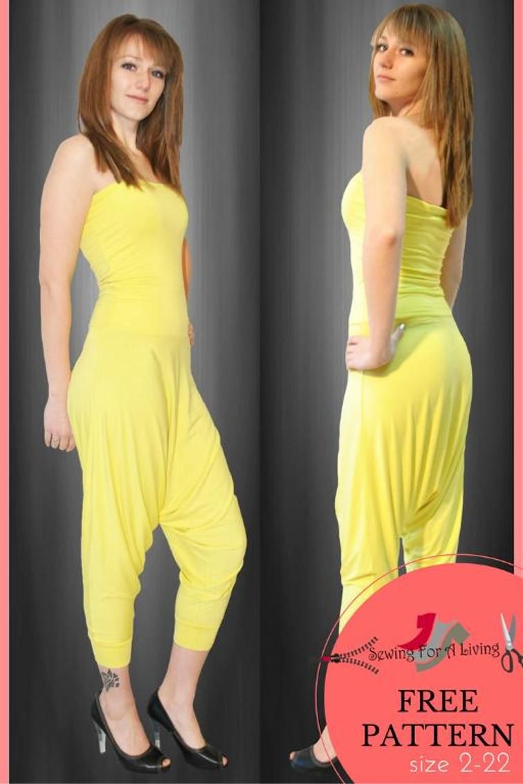 Pattern Free Harem Sewing Pants Jumpsuit Unw1ZqF