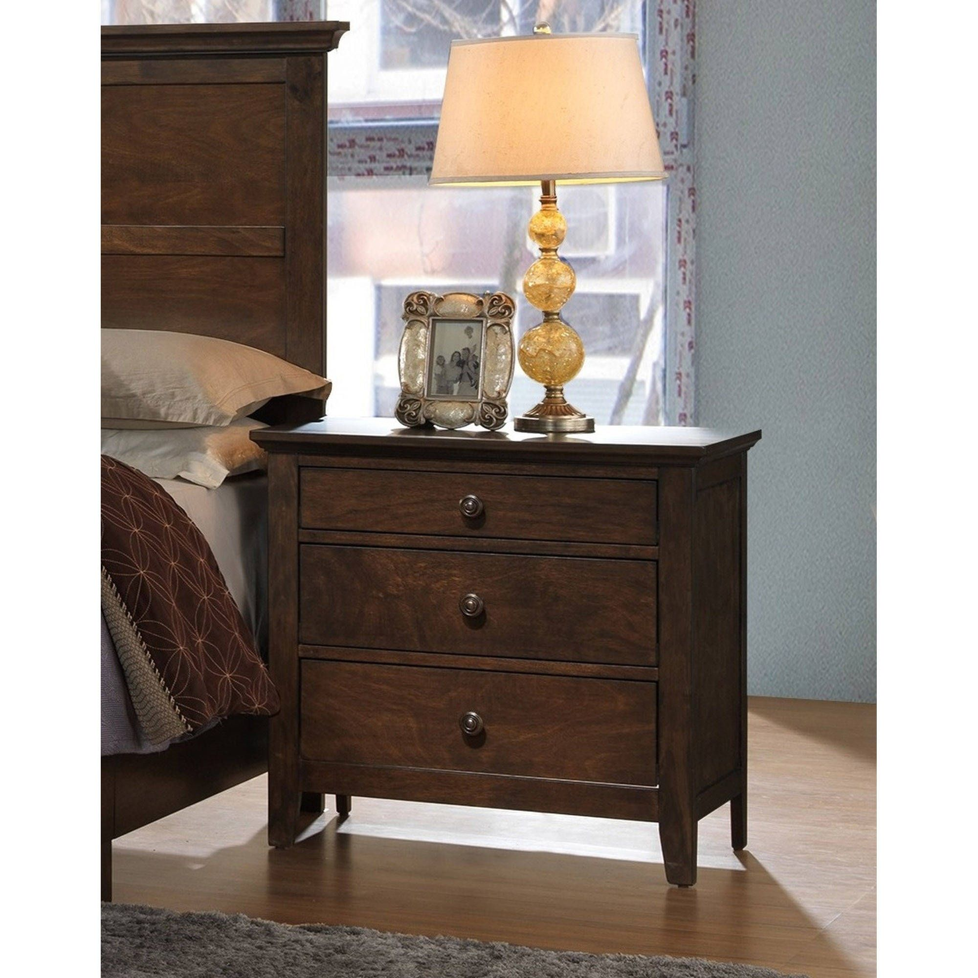 Better Homes And Gardens Easthaven Nightstand Mocha Walmart Com