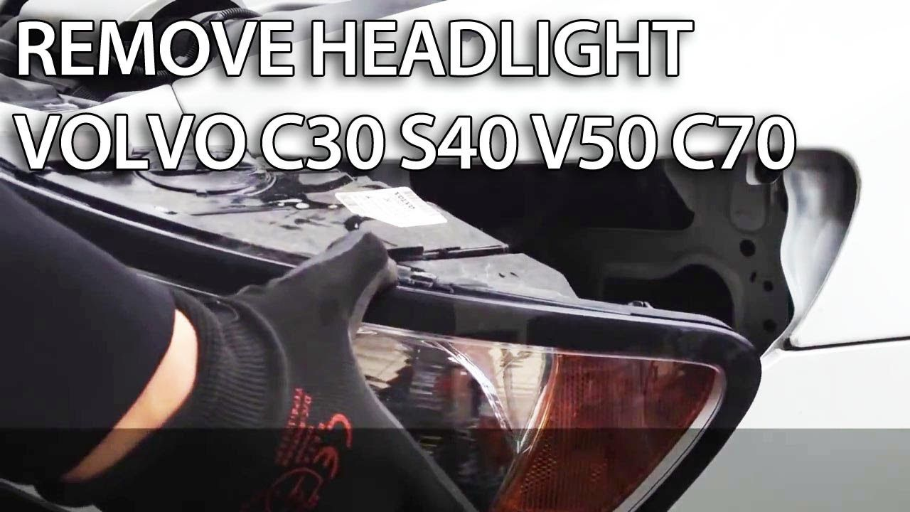 How To Remove Headlights In Volvo C30 S40 V50 C70 Light Bulb Fuse Box Change
