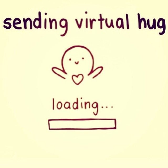 sending a virtual hug love love quotes quotes cute quote