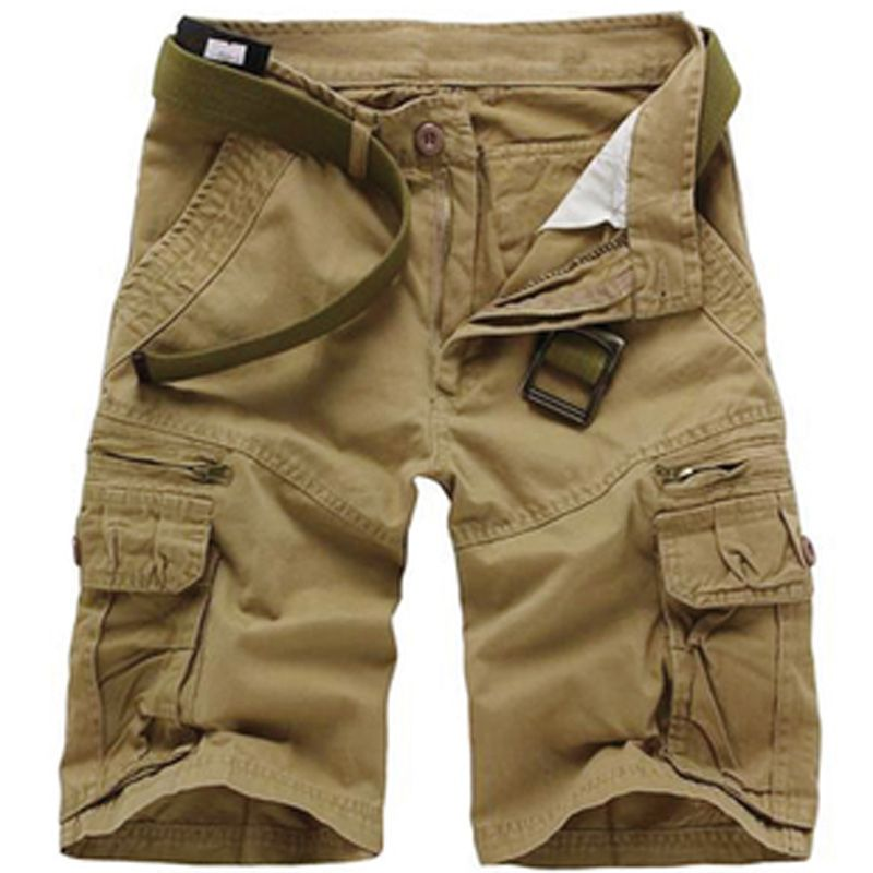 sale New men cargo shorts Multi-pocket Cotton Overalls Camouflage ...