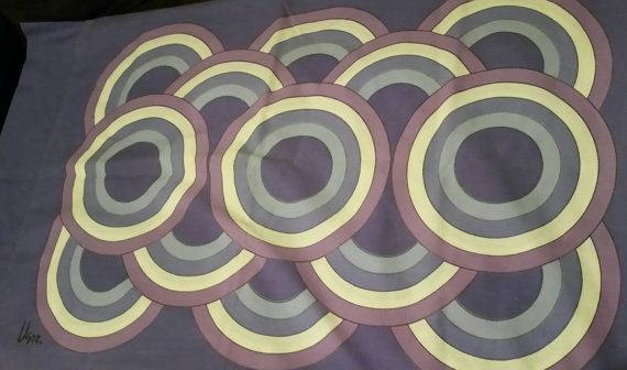 Vera Neumann mod circles pillowcases in purple