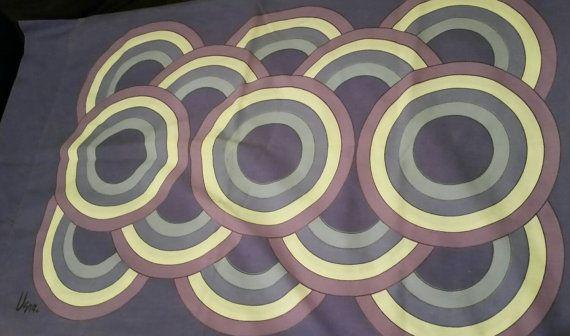 Vera Neumann mod circles pillowcases in purple