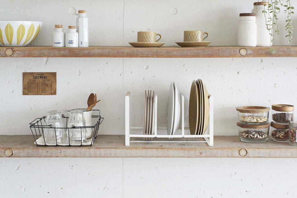 Scandinavian Style Kitchen Table And Chairs In 2020 Kitchen Shelf Design Tuscan Kitchen Kitchen Shelves