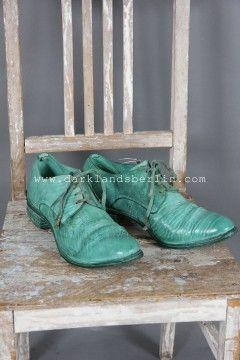 """Carol Christian Poell - O.D. Semilined """"goodyear"""" derbys - Sea Foam Green - (€1021 -> $1302) - Inspiration"""