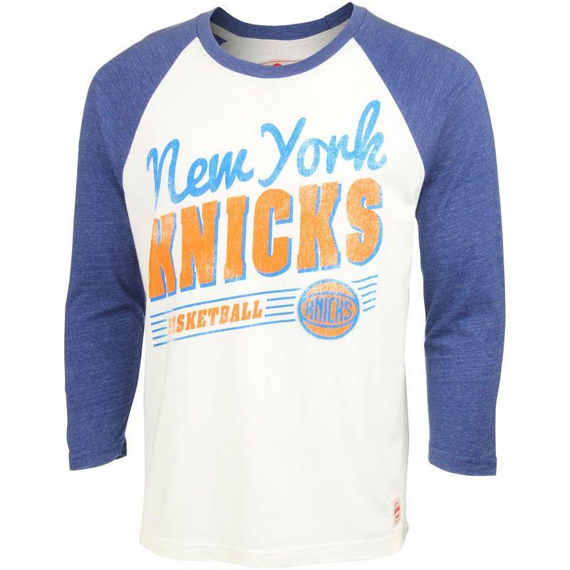 New York Knicks Sportiqe Sanford Oats Tri-Blend T-Shirt – White/Royal Blue
