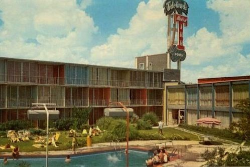 Tidelands Motor Inn Historic Houston Building Texas Medical Center