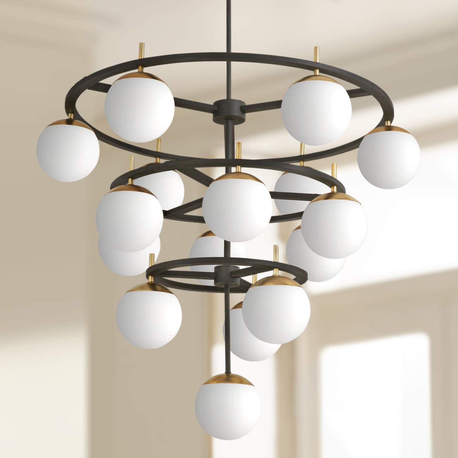Alluria 36 W Weathered Black And Gold 16 Light Chandelier 58d81 Lamps Plus In 2020 Chandelier Lighting Contemporary Light Fixtures Chandelier Lighting Fixtures