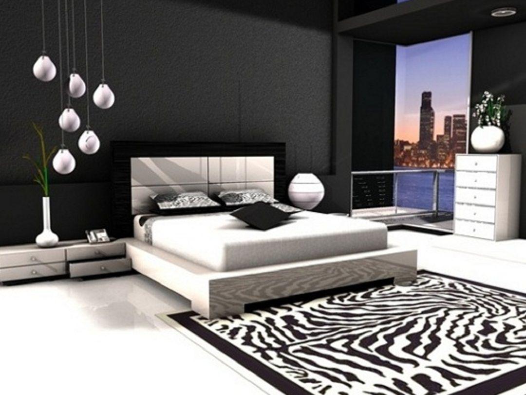 stylish bedroom design. Black and White Bedroom Interior Design