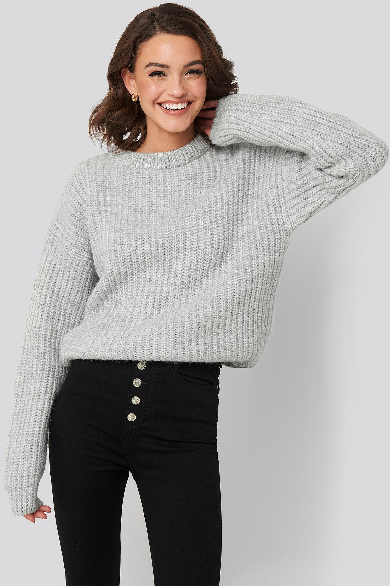 Photo of Heavy Knit Round Neck Sweater