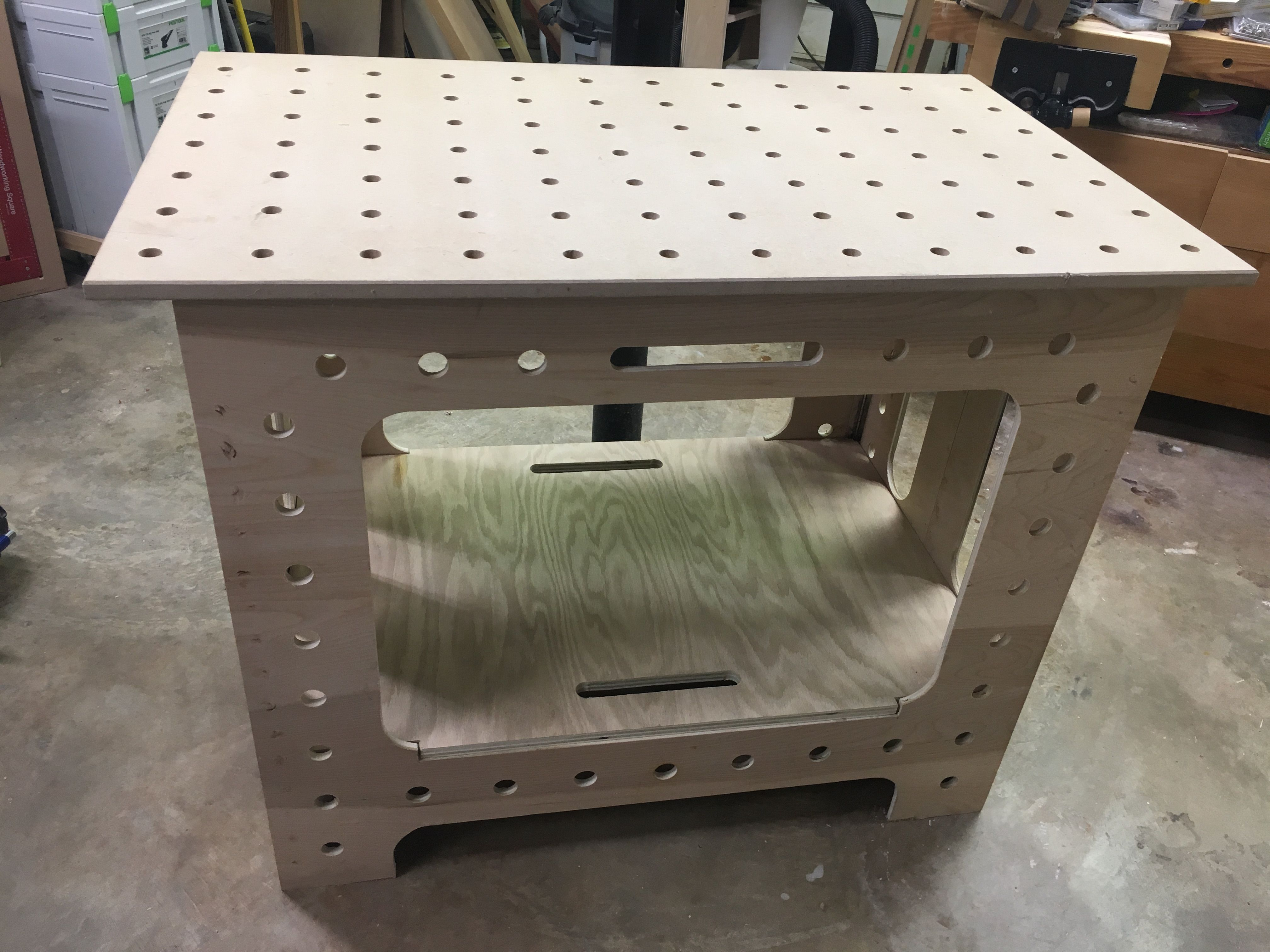 Portable Folding Workbench With Mft And Router Tops Folding