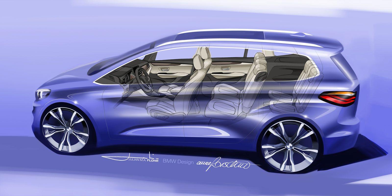 Bmw 2 Series Gran Tourer Seethrough Design Sketch With Images