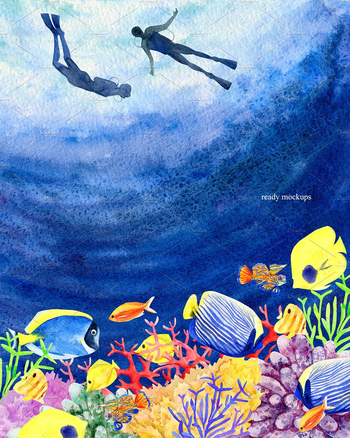 Watercolor Kit Under The Sea Under The Sea Drawings Sea Art
