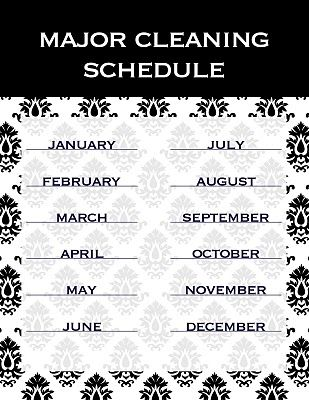 Blog Less Cake More Frosting Part 30 Cleaning Schedule Cleaning Monthly Cleaning Schedule