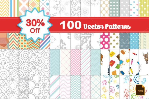 Vector Patterns by DeepDesign on Creative Market