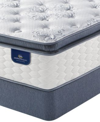 Serta Perfect Sleeper Graceful Haven 13 75 Plush Pillowtop Mattress Set Queen Split